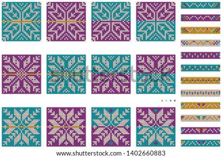 Grandmas New Year bunddle of Christmas Ugly Sweater knitting star patterns