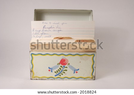Grandmas recipe file box