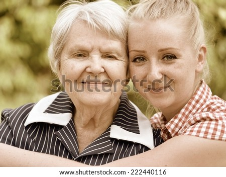 grandmother and granddaughter....