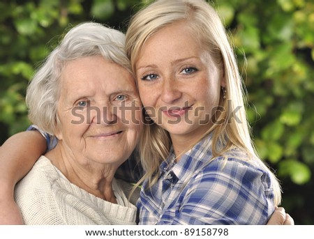 Grandmother and granddaughter MANY OTHER PHOTOS WITH THESE MODELS IN MY PORTFOLIO