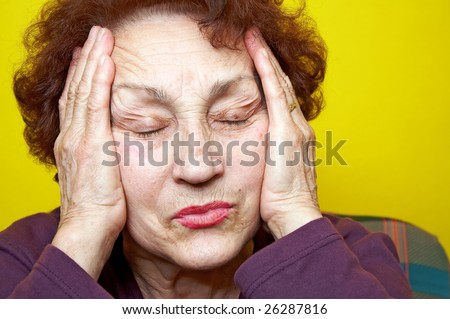 Grandmother portrait who had headache