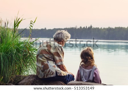 grandmother with grandchild  ...