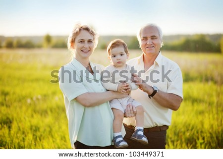 Grandparents and grandchild
