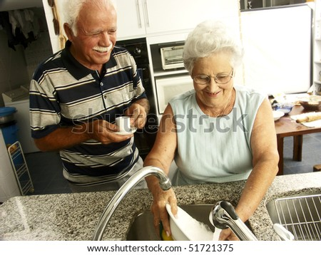 grandparents in a kitchen