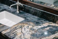 granite bathroom details