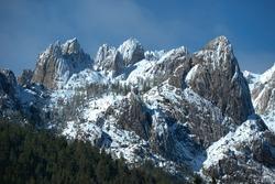 Granite Cliffs of the Castle Crags, Shasta, California