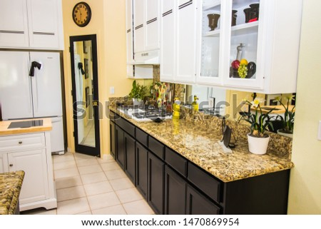 Granite Counter Kitchen With Island