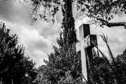 Granite Cross in a Graveyard