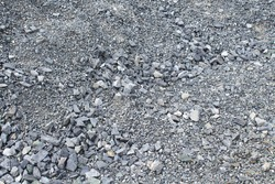 Granite crushed stone. Close-up. Top view. Background. Texture.
