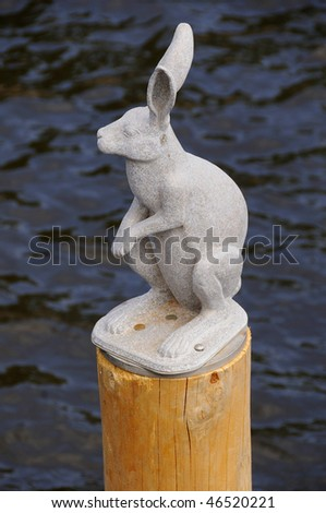 Granite Hare Statue at Peter and Paul Fortress in St Petersburg