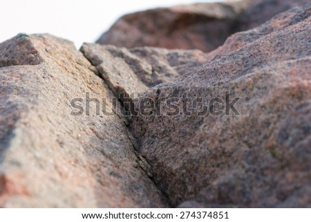 granite object stone people single  concepts nature