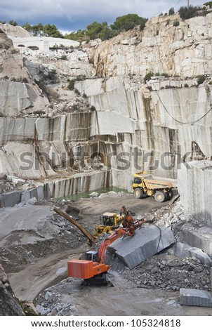 granite quarry in Cadalso de los Vidrios, Madrid