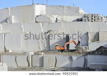 granite quarry in the village of Madrid,Spain