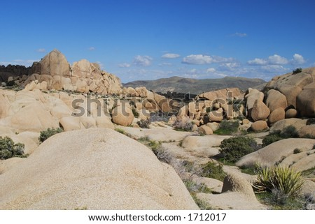 Granite rock formations in Joshua Tree National Park, California