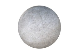 Granite sphere isolated on a white background.