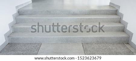 Granite stairs, granite stairs corridor under a modern building.