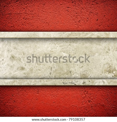 granite stone on red wall