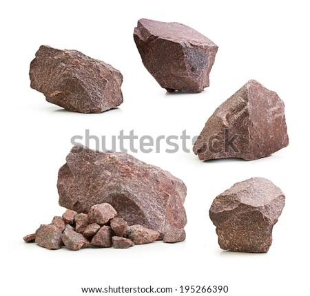 Granite Stone Background Granite Stones Rocks Set