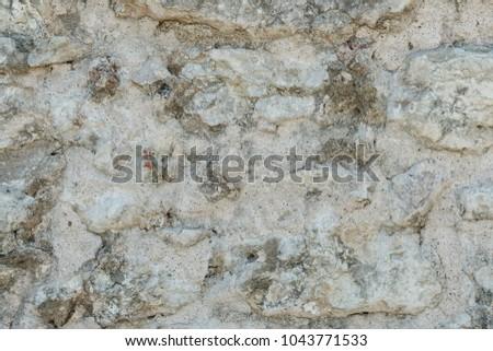 Granite texture, stone wall surface closeup. Grunge cobblestone ...
