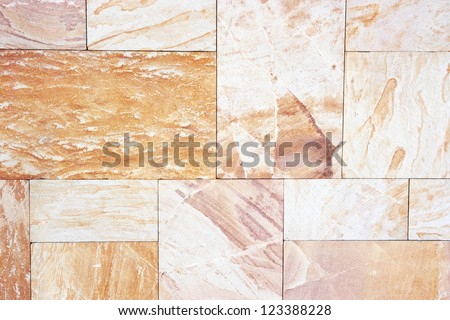 Granite tiles with natural pattern.