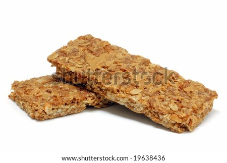 Granola bars isolated on a white background