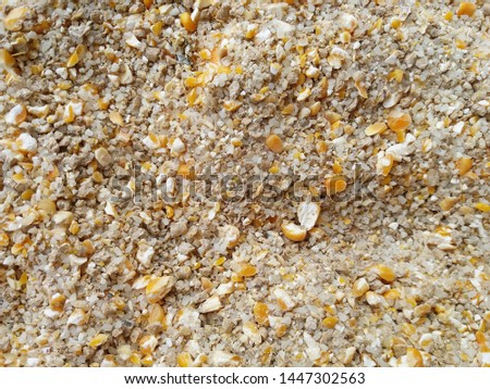 Granulated animal food, background, texture close up.