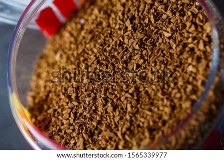 Granules of instant coffee background