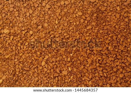Granules of instant coffee with for background