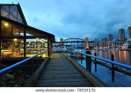 Granville Island Night Scene, Vancouver, British Columbia
