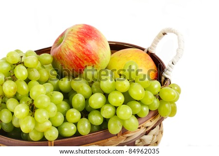 Grape and apple