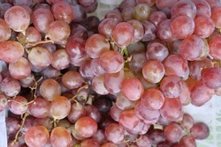 Grape fruit closeup view, its sweet and healthy fruit common and well known fruit. As an ingredient for making wine drinks