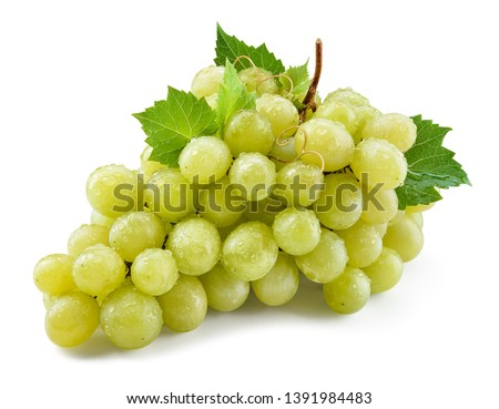 Grape isolated. Grapes on white. With clipping path. Full depth of field. #1391984483
