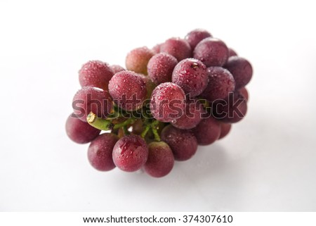 Grape isolated on white background  #374307610