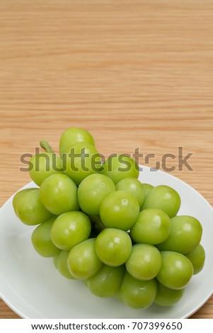 Grape named Shine Muscat #707399650