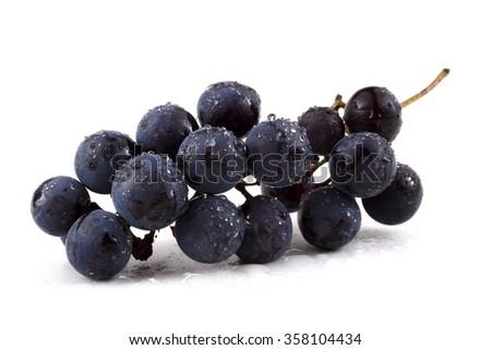 Grape on autumn leaves #358104434