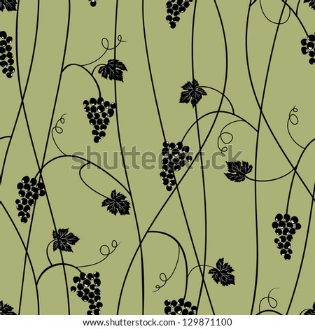Grape seamless pattern. Raster version, vector file available in portfolio.