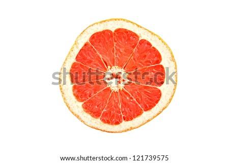 Grapefruit cut top view. #121739575