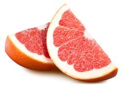 Grapefruit fruit clipping path. Fresh organic grapefruit isolated on white.