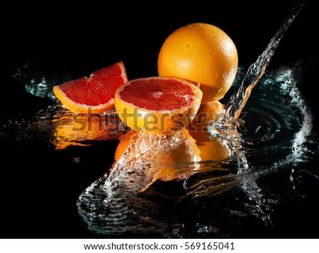 Grapefruit in water #569165041