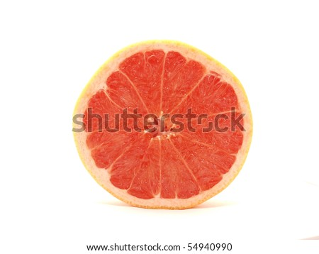 Grapefruit on a white background #54940990