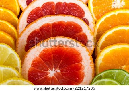 Grapefruit Orange Lime Lemon Colour