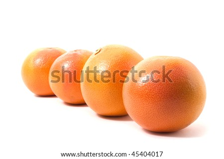 grapefruits isolated on white background