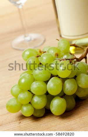 grapes and white wine #58692820