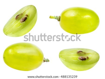 grapes isolated on the white background #488135239