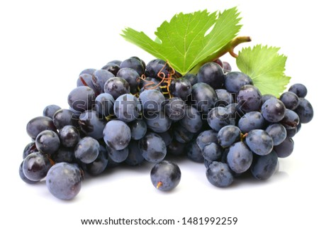 Grapes on a white background #1481992259