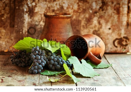 Grapes on table #113920561