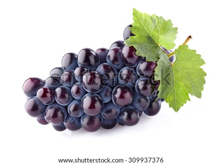 Grapes with leaves #309937376