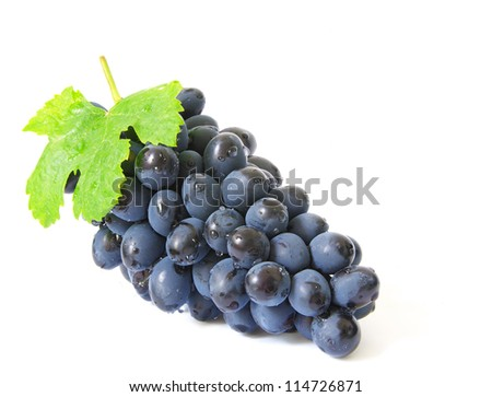 grapes with water drops