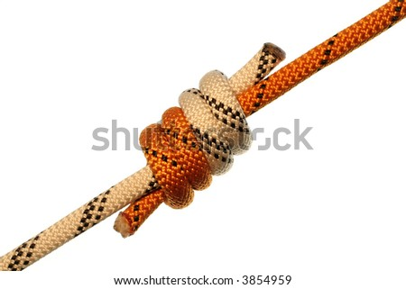 grapevine knot on white background