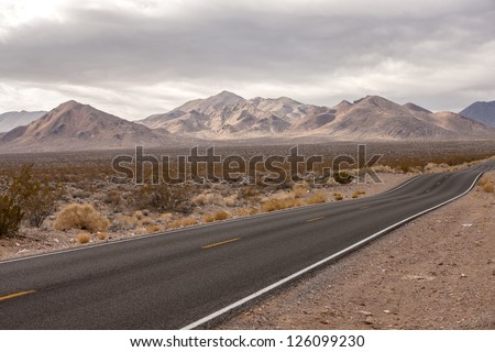 Grapevine Mountains, view from Highway 374